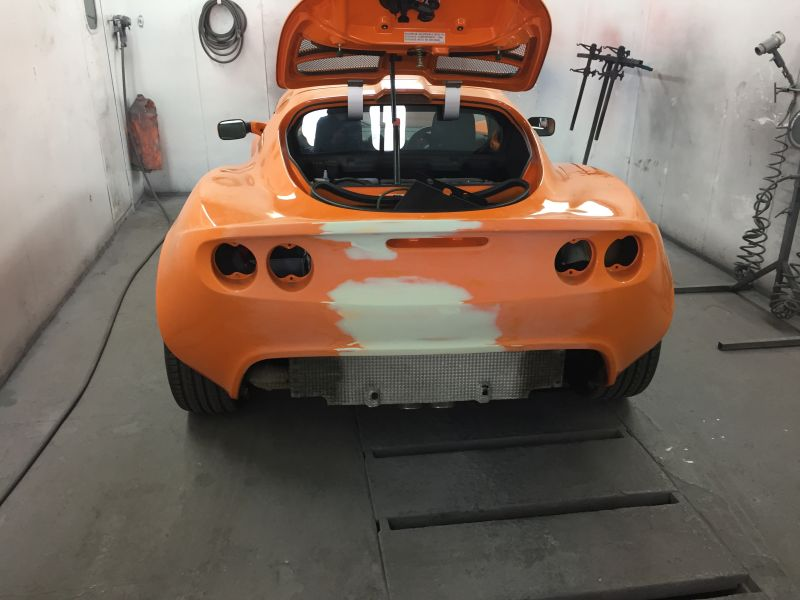 Lotus Exige Rear Fibre Glass Repair 07: Swipe To View More Images