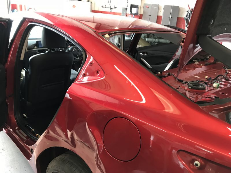 Mazda Rear Quarter Panel Replacement 06: Swipe To View More Images
