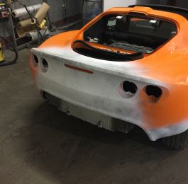 Lotus Exige Rear Fibre Glass Repair 12: Click Here To View Larger Image