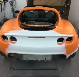 Lotus Exige Rear Fibre Glass Repair 13: Click Here To View Larger Image